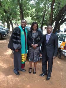Rev. Dr. Abedu Quarshie With Rev. & Rev. Mrs. Fosu