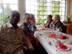 Rev. Fosu at Denis' 20th Birthday party