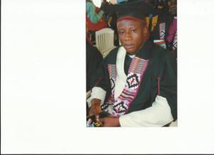Rev. Fosu at his Master's Degree Graduation Ceremony