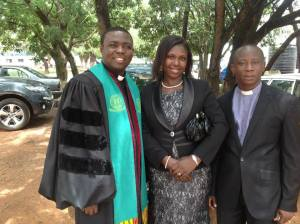 Rev. Fosu at PhD Matriculation ceremony