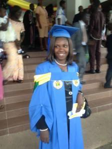 Rev. Mrs. Mary Fosu at her MPh. Degree Graduation Ceremony