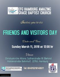 Friends and Visitors Day